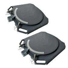 2PC Aluminum Wheel Alignment Turntable Pair 360° Rotating Turn Plate