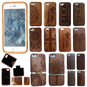 Natural Wooden Phone Case Wood Cover Bamboo/ cherry For Apple iPhone 6 6S 7 7S 8