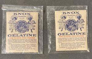 1900s Charles B Knox Knox's Gelatine Packet Black Americana Vintage Cow Ad
