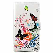 Folding Flip Stand ID Card Slots PU Leather Case Cover For Smartphone Cellphones