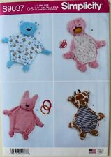 Simplicity 9037 Baby Sensory Animal Blankets Sewing Pattern
