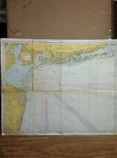 VINTAGE NAUTICAL MAP - FIRE ISLAND LIGHT to SEA GIRT LIGHT