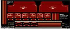 TRIANG RAILWAYS HORNBY R258 MAROON PRINCESS LOCO REFURB TRANSFERS KIT LHP HD205