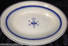 "PETRUS REGOUT MAASTRICHT HOLLAND PGO25 12.5"" OVAL SERVING BOWL BLUE BANDS"