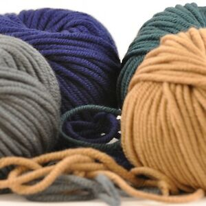 100/% Extra Fine Merino Double Knit Hand Knit Wool ~ Bessie May SMILE in Grey