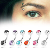 16g gauge 12pcs Eyebrow Piercing Rings Bar Tragus Curved Barbell Lot