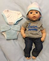 MY FIRST BABY ANNABELL BROTHER CLOTHES SET FITS 12-14 INCH BOY DOLL REBORN