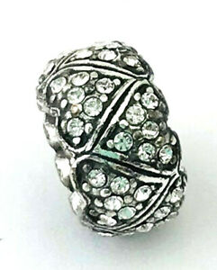 Brighton As One Bead Silver Finish, Crystals J93712  New