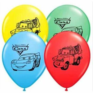 8pcs Cars Lightning McQueen & Mater Latex Balloons Birthday Party Decoration