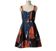 Anthropologie Maeve Women Size 4 Fragmented Pipevine Butterfly Wings Dress