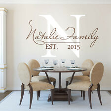 Personalized Custom Family Name Wall Sticker Vinyl Quote Bedroom Art Decor Large