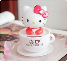 Hello Kitty Vehicle Decor Solar Energy Bobble Head Figure Doll RED
