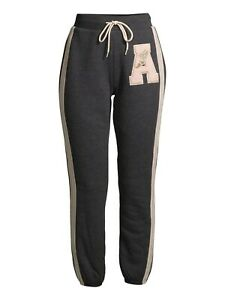 No Boundaries Juniors' Faux Sherpa Joggers with Side Stripes