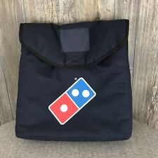 """Dominos Pizza Delivery Bag Insulated Thermal 20 """"x 19"""" x 8"""" Navy Blue"""