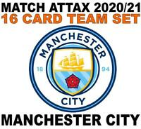 Match Attax Champions League 2020/21 MANCHESTER CITY 16 card team set