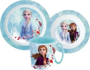 Ice Queen Frozen Dishes Set Cutlery Set Breakfast Children Disney Cartoon New