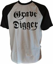 Grave Digger-LOGO-Fruit of The Loom Baseball-T-shirt-XL/Extra-Large - 164262