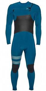 HURLEY Men's 4/3 ADVANTAGE PLUS CZ Wetsuit 474 NVY/BLK Size Large Short LAST ONE