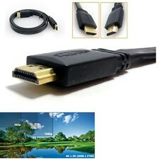 7m LONG FLAT High Speed v1.4 HDMI Cable With Ethernet 3D 1080p 4K Gold Full HD