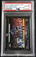 Odell Beckham *THE CATCH BLACK #/10 PSA 10 GEM* 2015 Chrome Mini Football Card