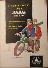 Prospekt Motorrad Ardie BD 176  -  farbig  -  äußerst selten!