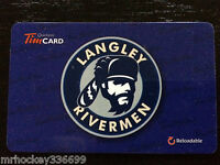 2014 BCHL Langley Rivermen (FD42380) Tim Hortons collectors gift card 333