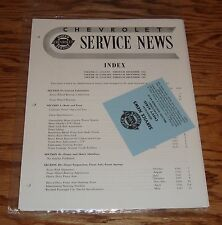 1947 Chevrolet Service News Magazine Complete Year 47 Chevy