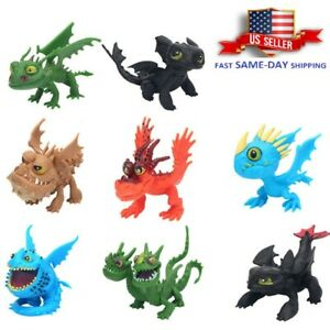 8 Pcs How To Train Your Dragon Stormfly Fury Toothless Action Figure Kids Toy