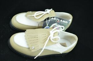 Eastland Golf Shoes Leather White Tan Brown Women's 7.5M