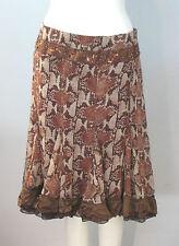 DEBBIE SHUCHAT for Melanie Lynn Size 2 Brown 100% Silk Women's Skirt