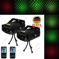 2X Mini R&G Stage LED Laser Projector Party DJ Club KTV Projektor Effekte Licht