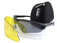BLOC - SHADOW interchangeable Sports Sunglasses Black with 3 x Lenses W301