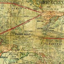 Tim Holtz Eclectic Elements Expedition Fabric 100% Cotton- Vintage Map -PWTH016M