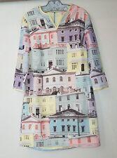Ted Baker London Edolie House Print Long Sleeve Dress Sew in Love SZ 1 Mod Kicki