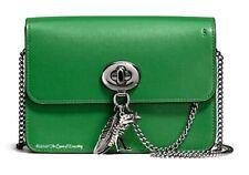 COACH Green Bowery Calf Leather Rebel Rexy Charm Green / Gunmetal 59095 RARE!