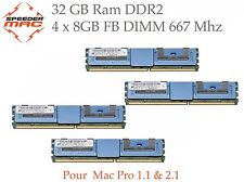  Kit Mémoire 32 GB (4x 8GB) DDR2  667MHz FBDIMM pour Mac Pro 3.1 Early 2008