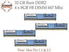  Kit Mémoire 32 GB (4x 8GB) DDR2  667MHz FBDIMM pour Mac Pro 3.1 Early 2008