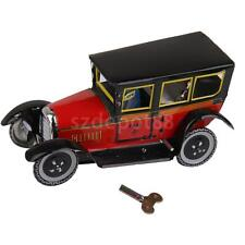 Wind Up CLOCKWORK Vintage Model Taxi Car and Driver Tin Toy Collectible Gift