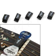 Alice 5pcs Black Rubber Pick Holder Fix on Headstock fr Guitar Bass Ukelele New
