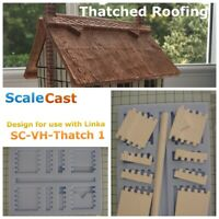 Model Railway THATCH ROOF STYLE 1 mould for OO Gauge Scenery -Thatch1