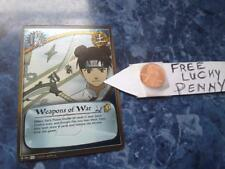 Naruto Cards TCG CCG FOIL 791  Weapons of War black FOIL  + FREE lucky penny