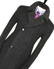 LUXURY MENS BURBERRY LONDON CHARCOAL GREY HEAVY PEACOAT JACKET COAT OVERCOAT 42R