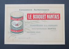 Business Card The Bouquet Nantais Boisselier Guillon Nantes Old Visit