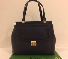 New Kate Spade THATCHER WKRU3705 Everett Way Cow Leather Black XL Tote Large