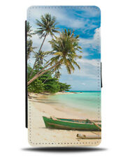 Washed Up Rowing Boat Flip Wallet Case Rower Boats Old Picture Beach H226