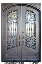 Verona Wrought Iron Double doors Operable Glass with Iron Pulls