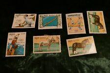 7 Kampuchea / Cambodia postage stamps postal philately philatelic kiloware