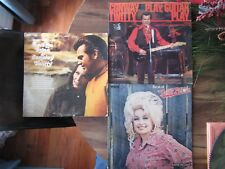 3 Signed Autograph Dolly Parton Loretta Lynn Conway Twitty Country Record Albums