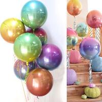 "22""Round 4D Rainbow Gradient Disco Foil Balloon Wedding Birthday Party Xmas NEW"