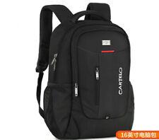 New Fashion Men School Travel Black Backpack Laptop Notebook Zipper Bag Rucksack